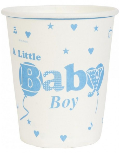 paper cups BABY BOY light-blue 8 cm
