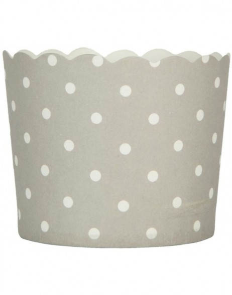 paper cups DOTS grey 7x5,5 cm