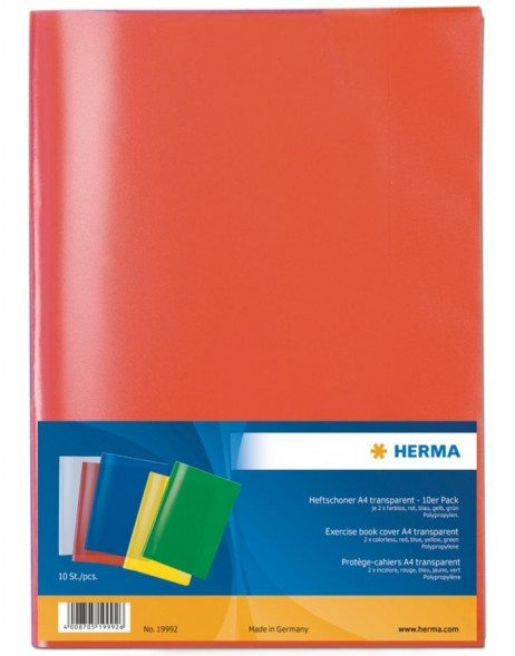 HERMA exercise book covers A4 10 pcs. assorted