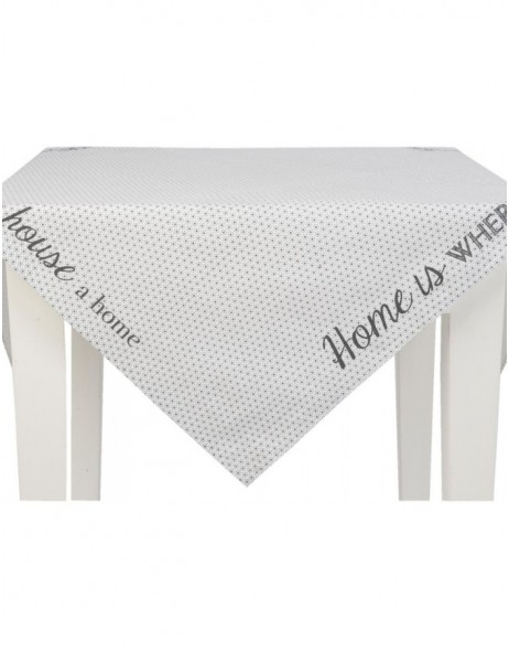 table-cloth 100x100 cm My Lovely Home grey