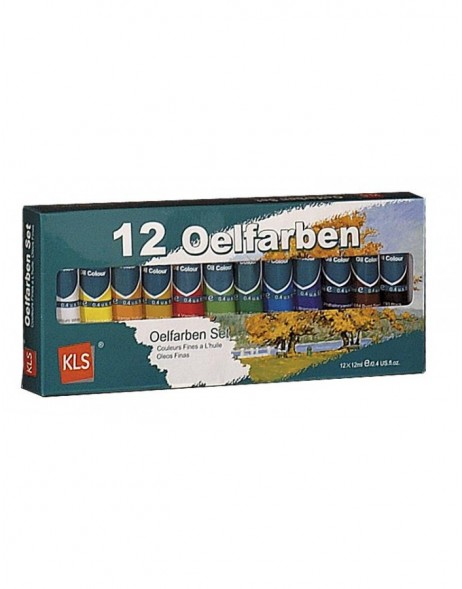 12 Tube oil color stains