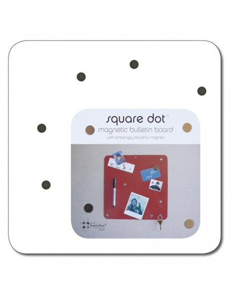 23 cm Magnetwand SQUARE DOT in weiß