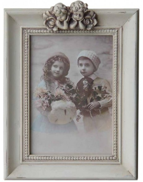 2463N Vintage frame with 2 angels for 13x18 cm