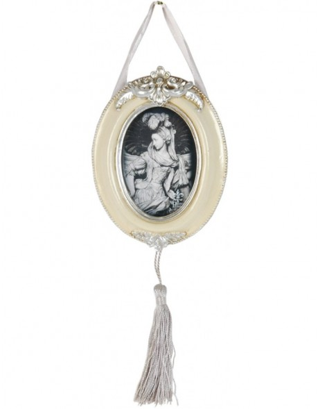 Baroque picture frame 2634 6,5x9 cm white