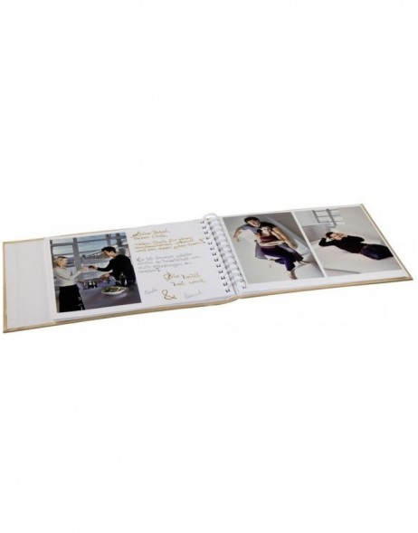 Isny Photo and Guest Album, 25x19 cm, 40 white pages, red