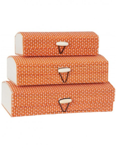 storage box, 3 pieces made of jute - 63171 Clayre Eef