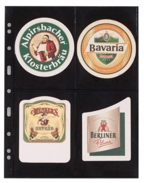 5 - Pack sheets for Beer Coaster Binder, black