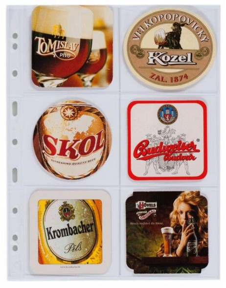 5 - Pack Grande sheets for Beer Coaster Binder