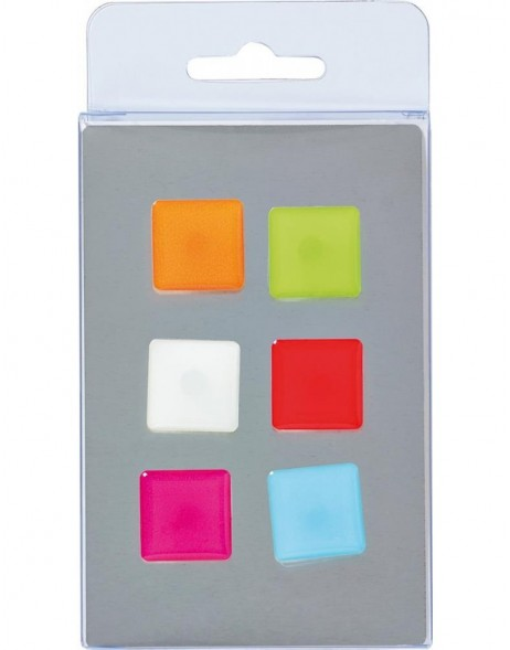 magnets 6 coloured squares