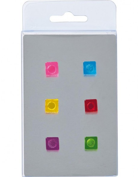 magnets 6 DICE coloured