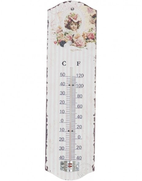 61206 Clayre & Eef thermometer 8x27 cm