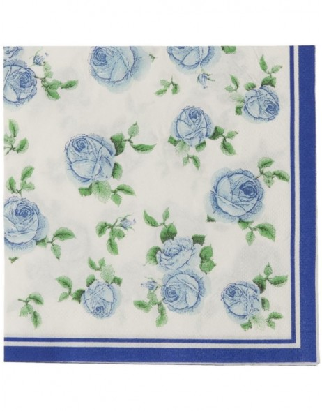 62868BL Clayre Eef paper napkins 33x33 cm in blue