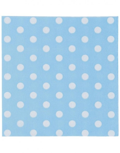 63163LBL Clayre Eef paper napkins 25x25 cm in light blue