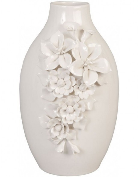 6CE0254 Clayre Eef vase of flowers