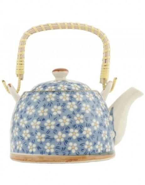 6CETE0026 teapot white/blue by Clayre Eef