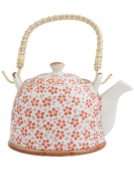 6CETE0031 teapot white/red by Clayre Eef