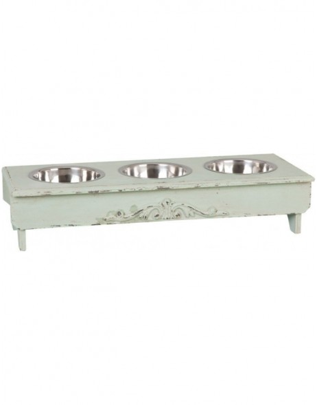6H0656 Clayre Eef - feeding bowl shabby green