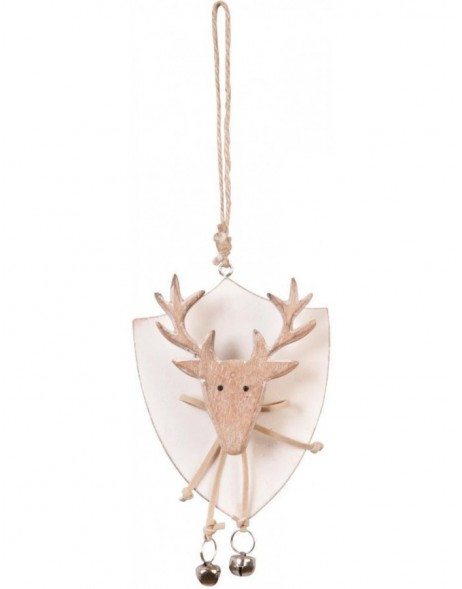 6H0669 Clayre Eef - Christmas pendant natural