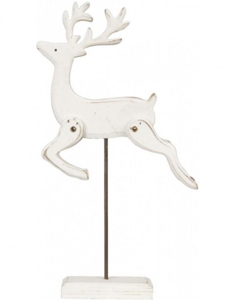 6H0750SN Clayre Eef - Decoration - Reindeer natural
