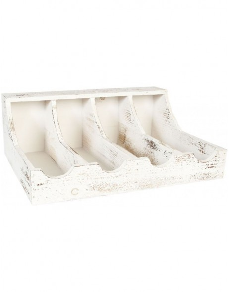 6H0783 Clayre Eef - wooden rack shabby white