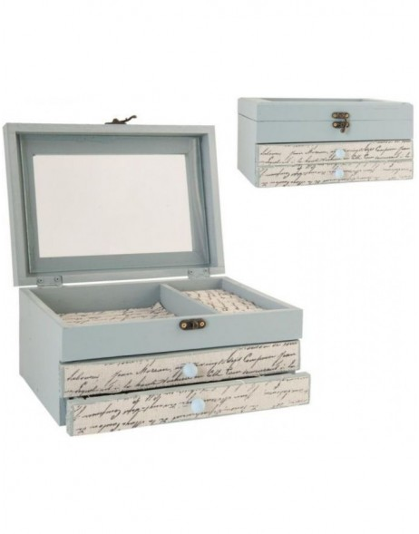 jewel case 27x17 cm light blue