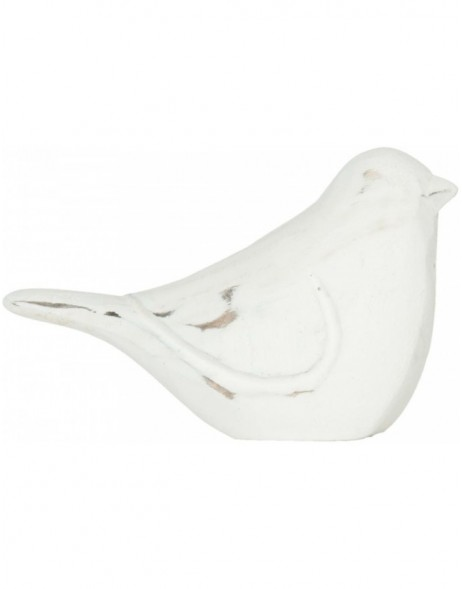 6H0815 Clayre Eef - BIRD decoration shabby white