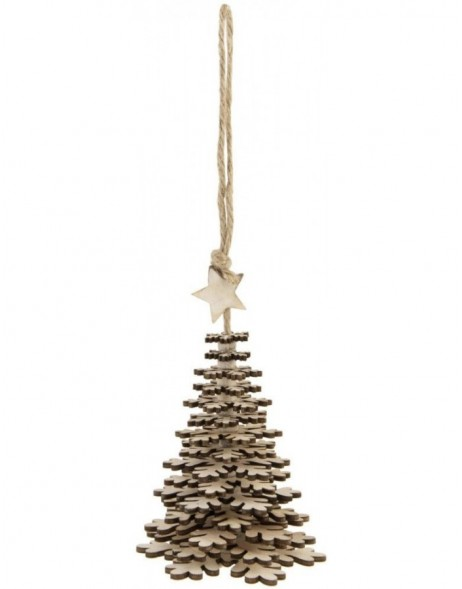 6H0911 Clayre Eef - Christmas pendant brown