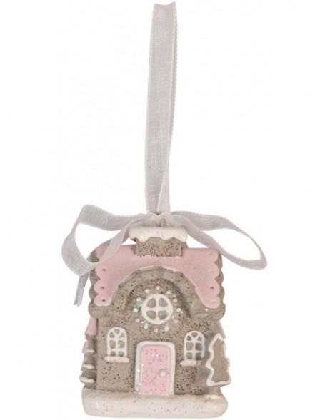 6PR0437 Clayre Eef - Christmas pendant HOUSE