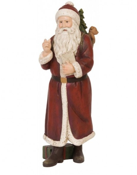 6PR0632 Clayre Eef - decoration Father Christmas