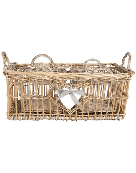 6RO0309 Clayre Eef 3pieces Set baskets natural