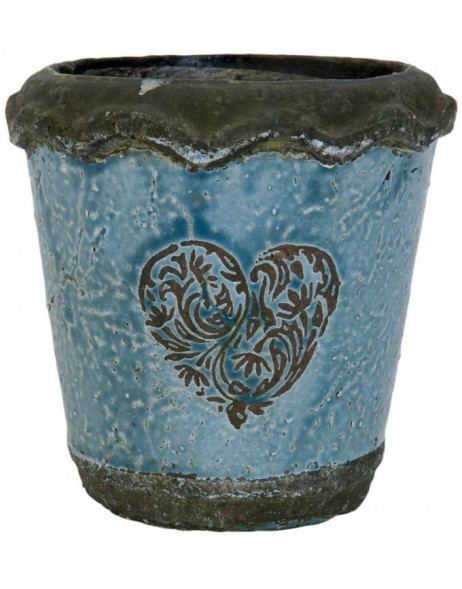 6TE0074S Clayre Eef planter in the size  Ø 13x14 cm