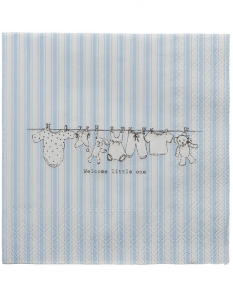 73.010BL Clayre Eef paper napkins 33x33 cm in blue
