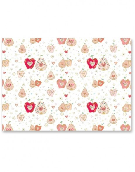 APPLE & PEAR IN LOVE Geschenkpapier