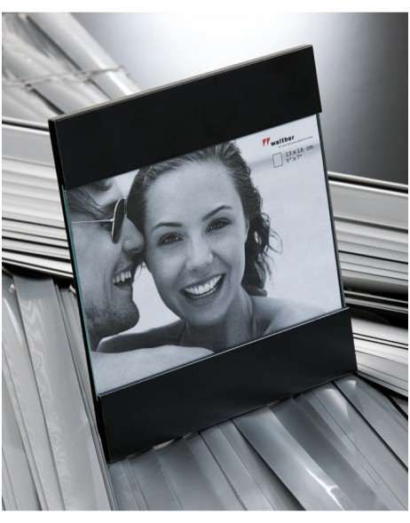 AVA photo frame black and silver 10x15cm, 13x18cm and 15x20 cm