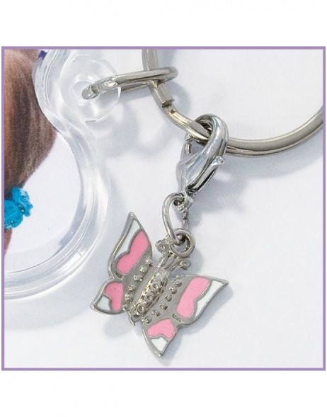 Acrylic key pendant with butterfly pendant