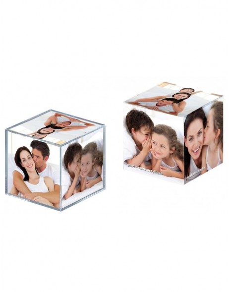 Acrylic photo cube - 6 photos 8,5 x 8,5 cm