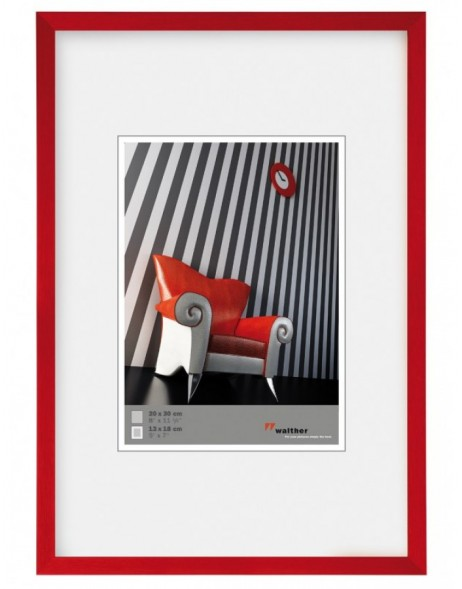 Walther Chair Alurahmen 40x50 cm rot