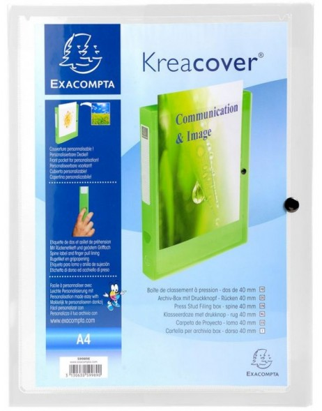 Archive box Krea Cover Chromaline 40mm PP 0.7 mm transparent