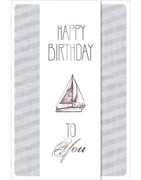 Artebene Karte Birthday Segelboot