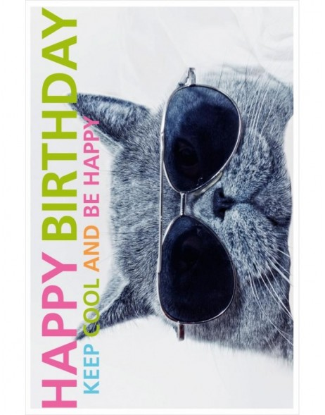 Artebene Karte Folie/Birthday/Cool Cat