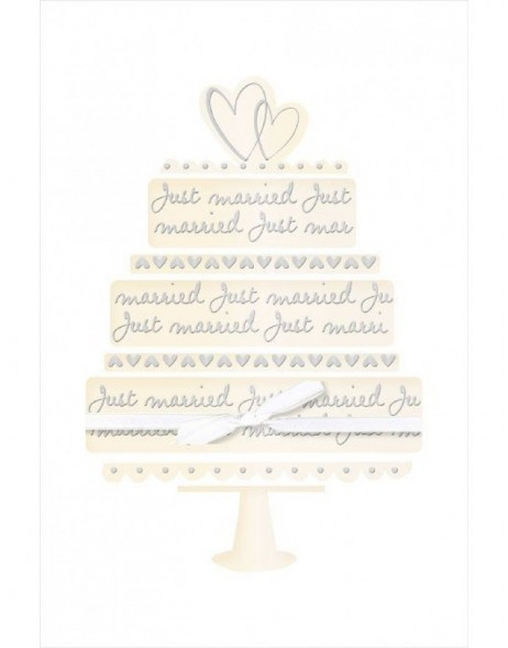 Artebene Karte Just Married Torte Schleife