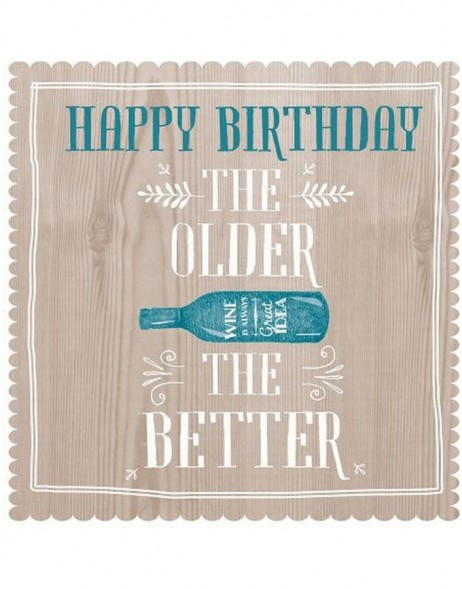 Artebene Servietten Birthday The older the better taupe 33x33 cm