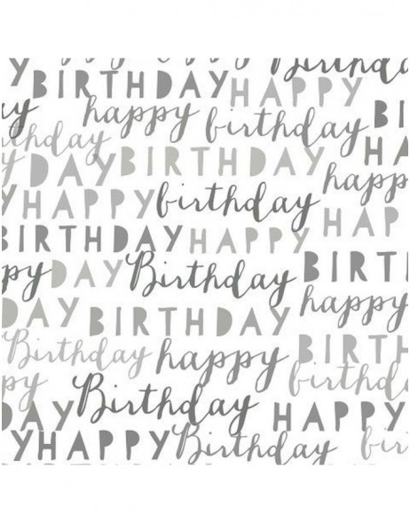 Artebene Servietten Happy Birthday grau 33x33 cm