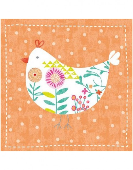 Artebene Servietten Huhn orange 33x33 cm