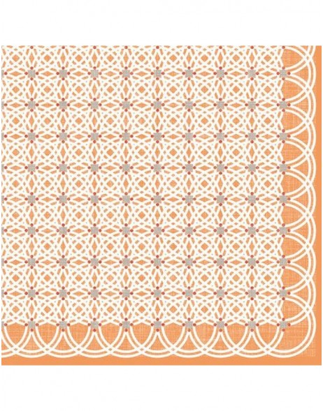 Artebene Servietten Kreismuster orange 33x33 cm