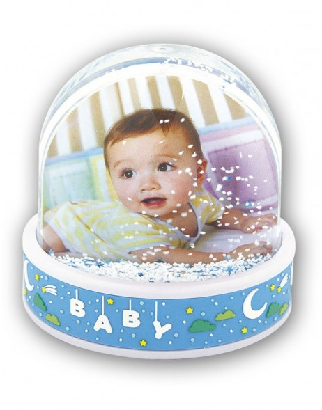 BABY BLUE photo globe for boys