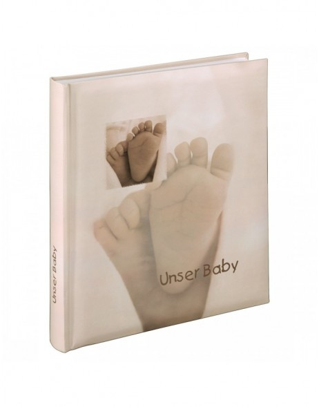 Baby Feel Bookbound Album, 29x32 cm, 60 white pages, text on two pages