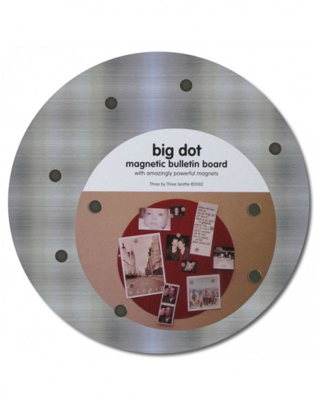 9 round stainless steel Big Dot magnetic board
