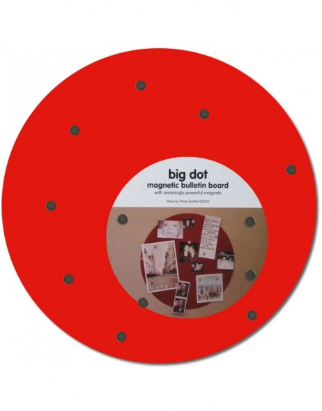12 red round magnetic board Big Dot