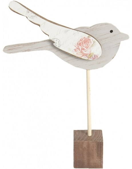 standing BIRD wooden decoration 19x12 cm